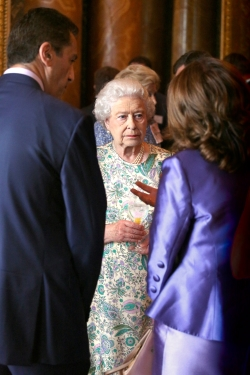 The Queen, Arif and Louise at Buckingham Palace